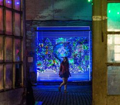 Invited Artist , 'Electric City ' Hidden Door Art Festival 2016, image courtesy of Craig Robertson